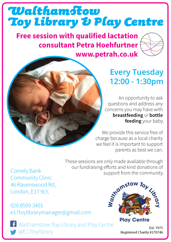 Free sessions with a lactation consultant every tuesday 12-1:30pm